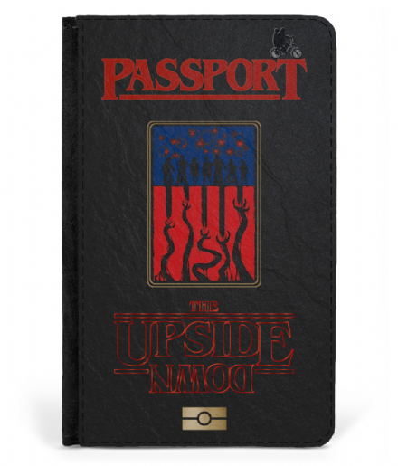 The Upside Down Hawkins Indiana Faux Leather Passport Cover Stranger Things Passport Cover